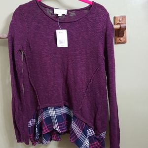 NWT women's sweater with layered look